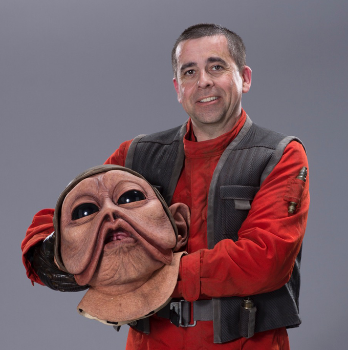 Mike Quinn as Nien Nunb from several Star Wars movies..