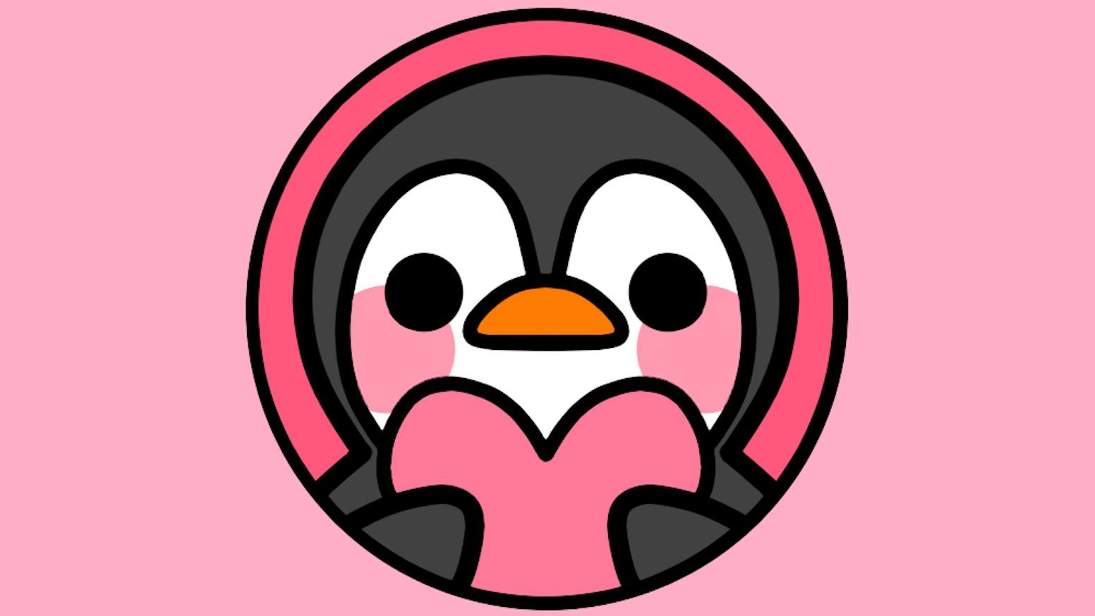 789b64b5d59 PINGKI - Cute  Penguin Love  Enamel Pin by Kyahri — Kickstarter