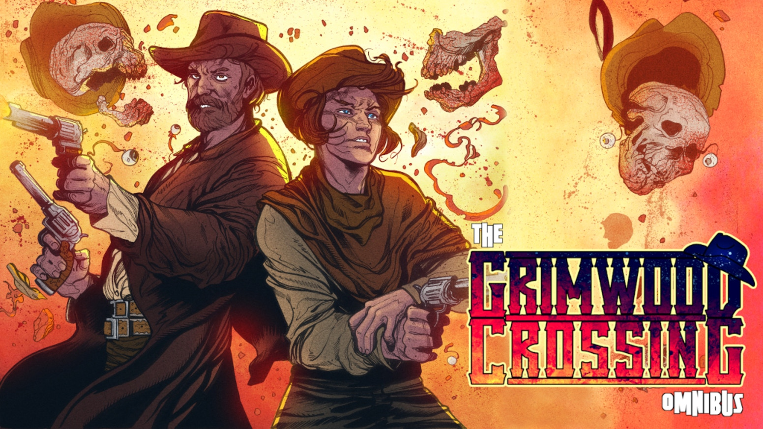 A supernatural western comic about gun-slingin' Monster Hunters. All of Grimwood Crossing + new stories collected in a 200-page book.