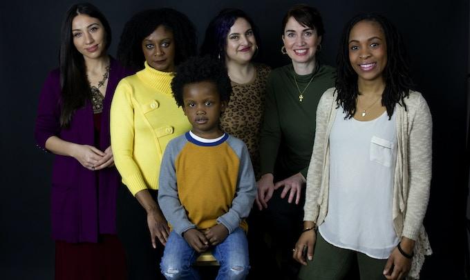 "Cast ""Amadi Comes Home"" : Julie Asriyan, April Matthis, Lauren Villegas, Jenna Ciralli, Kezia Bernard-Nau and Makai Williams"