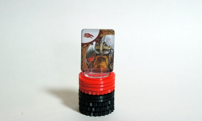 Small set of Viking Solid tokens for cardboard leaders