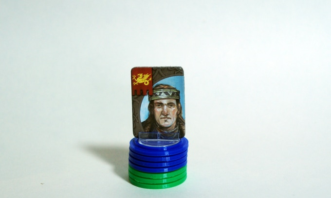 Small set of English Solid tokens for cardboard leaders