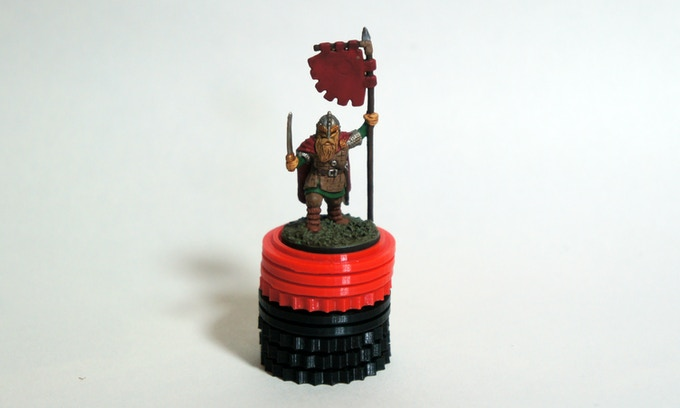 Large set of Viking Solid tokens for plastic miniature leaders