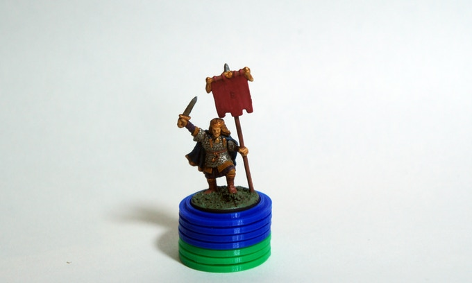 Large set of English Solid tokens for plastic miniature leaders