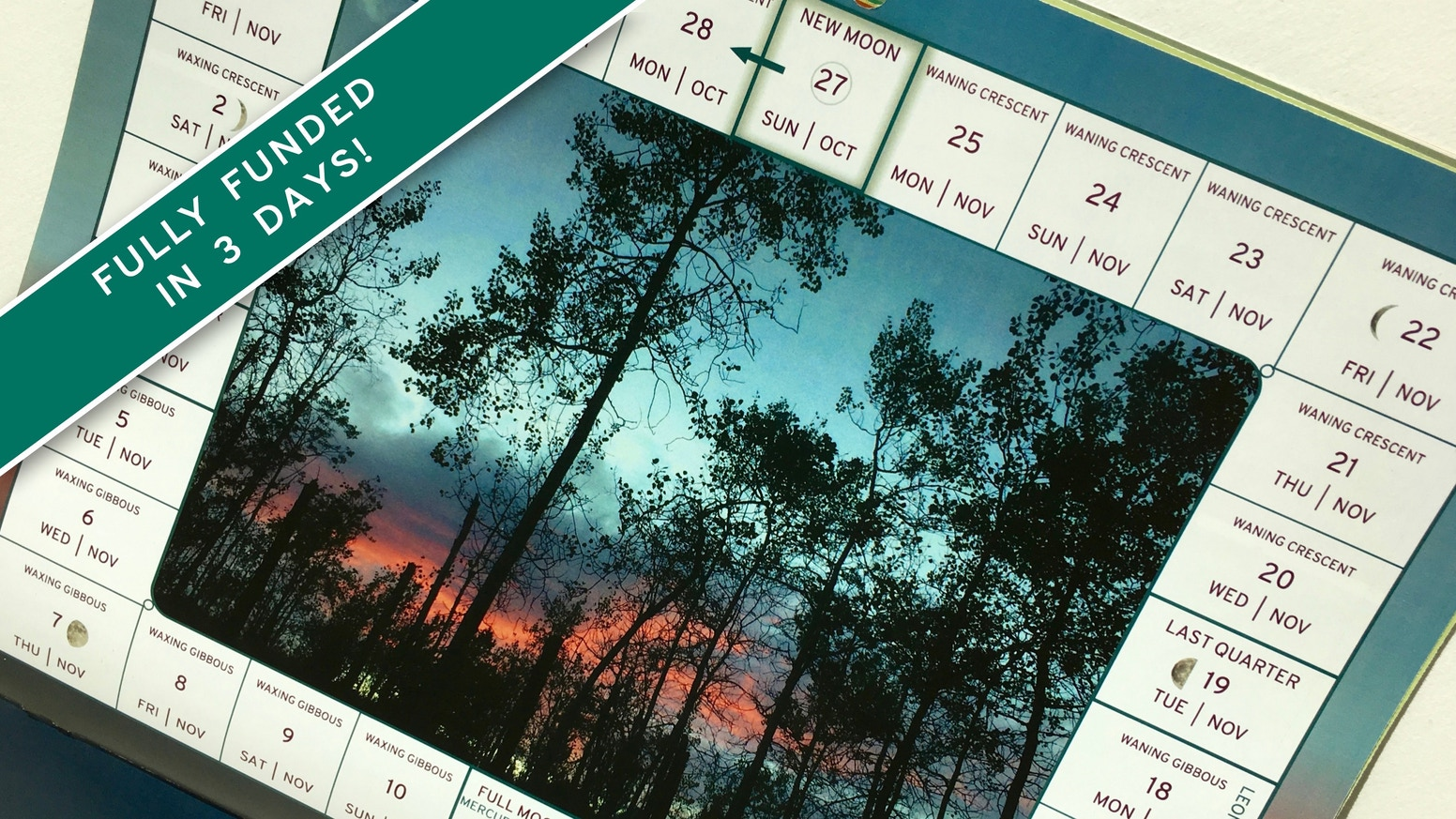 Track time with nature with this new take on a moon calendar, including seasonal produce, nature activity ideas, animal facts and more.