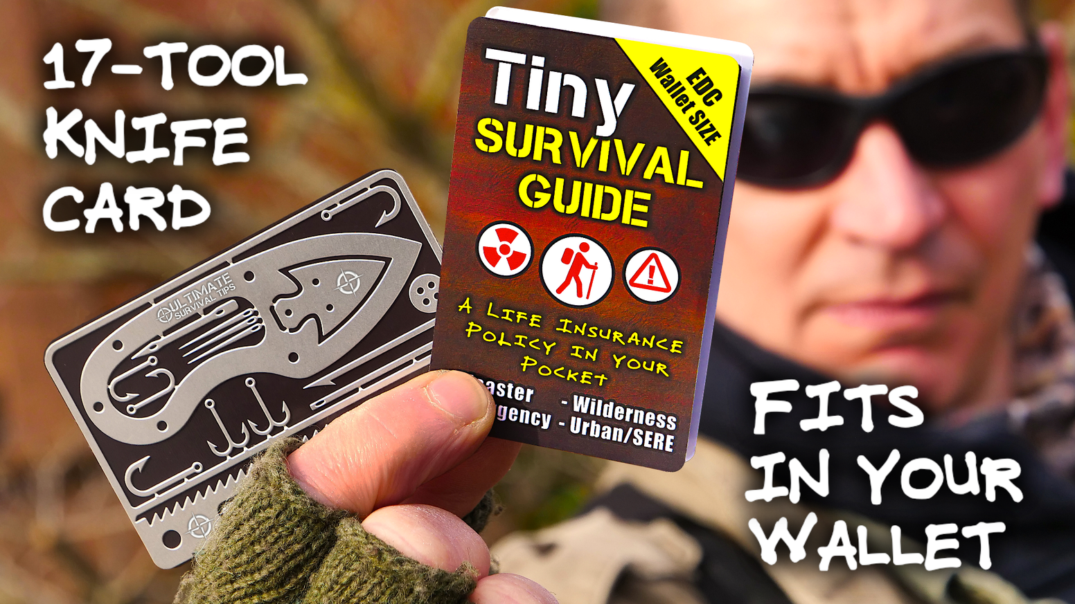 World's Smallest, Emergency / Disaster / Survival Guide, Fits in Your Wallet and Could Save Your Life.  Meet Tiny SURVIVAL GUIDE...