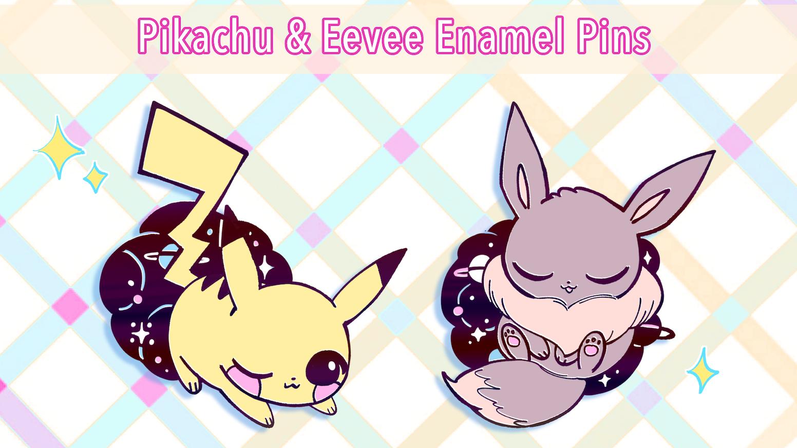 Pikachu And Eevee Galaxy Pins By Isabella Reeves Kickstarter
