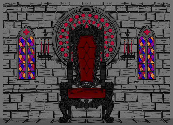 Our castle set will be fully immersive and have 2 slightly different walls to allow for more interesting compositions. There will be several details that allow this set to be partially customizable.