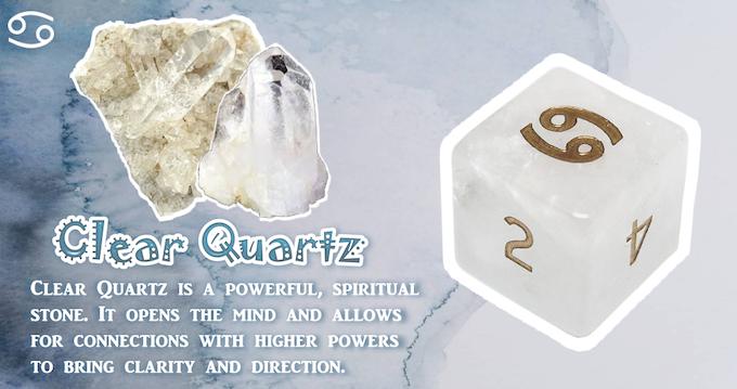 Handmade Zodiac Pure Gemstone Dice by Diving Hippo Studio — Kickstarter