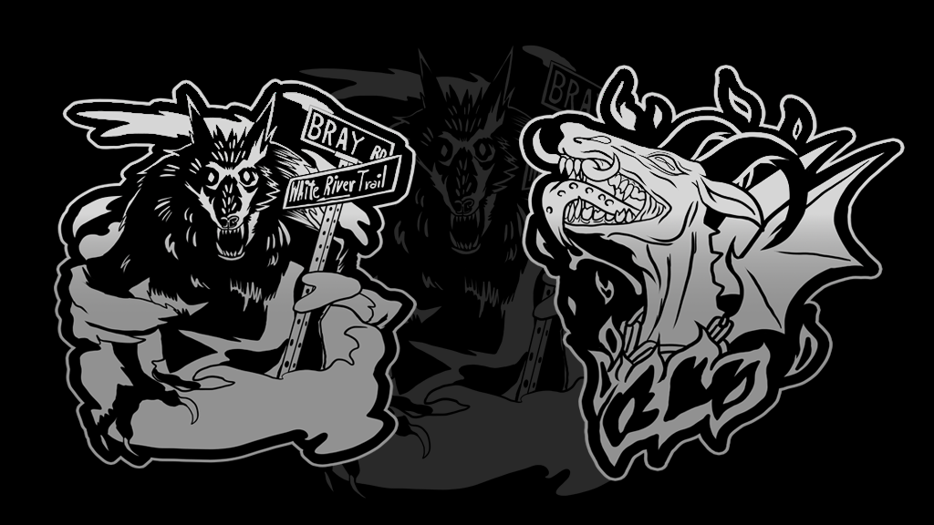 Project image for Make 100 Cryptid enamel pins: Bray Rd Beast & Jersey Devil