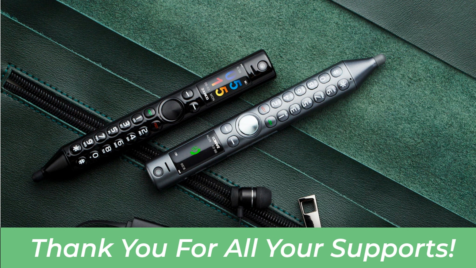 Incredibly portable, versatile, and useful, Zanco Smart Pen is a powerful combination of phone, Bluetooth headset, stylus pen.