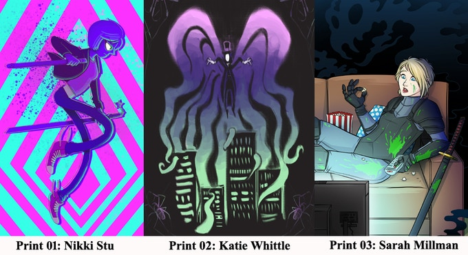 The three new Art Prints avialbale on this campaign!