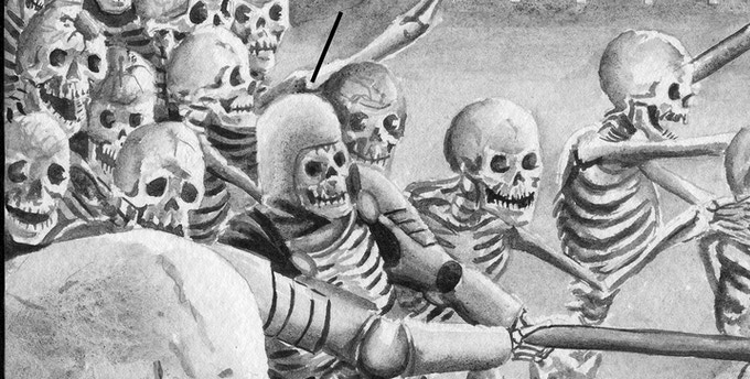 not one but hundreds of skeletons