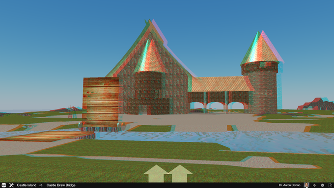 You can change the main and Scene Camera views in the Settings menu. This is the Red-Cyan Glasses 3D view!