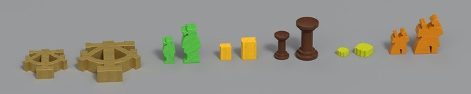 Here is a comparison of the Basic (left) and Deluxe components (right).