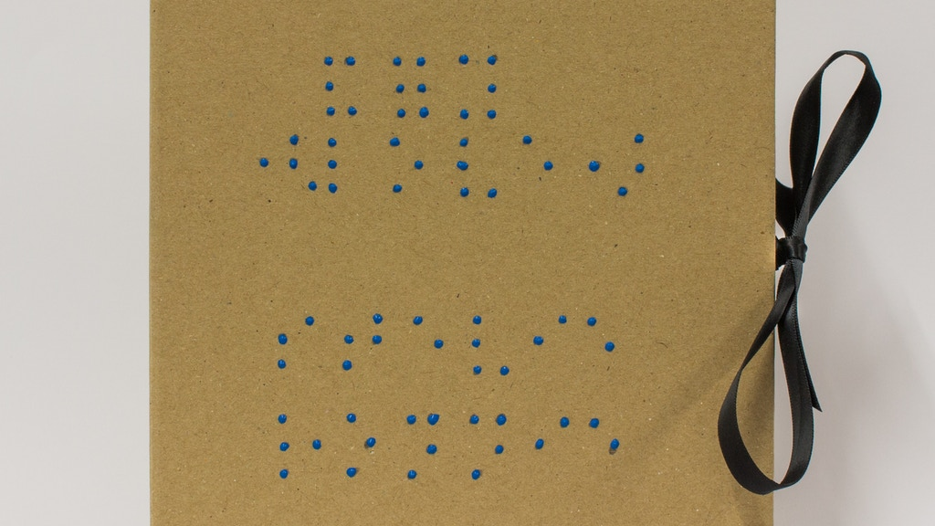 'and for you (love)' - An artist's book of Braille poems project video thumbnail