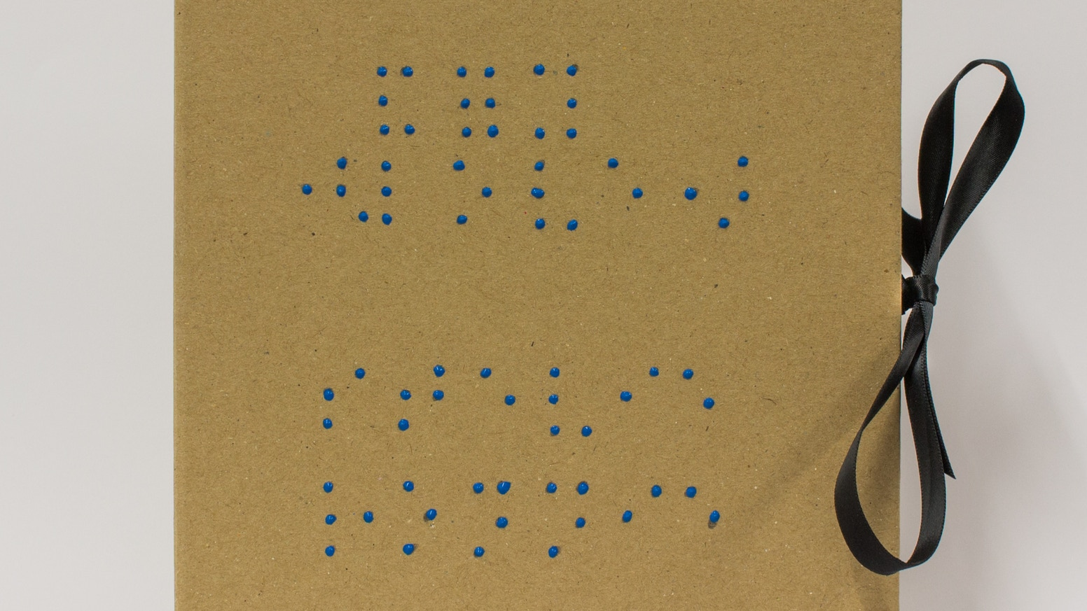An edition of 100 handmade artist's books containing 5 Braille poems presented in a box. Part of Kickstarter's Make/100 campaign
