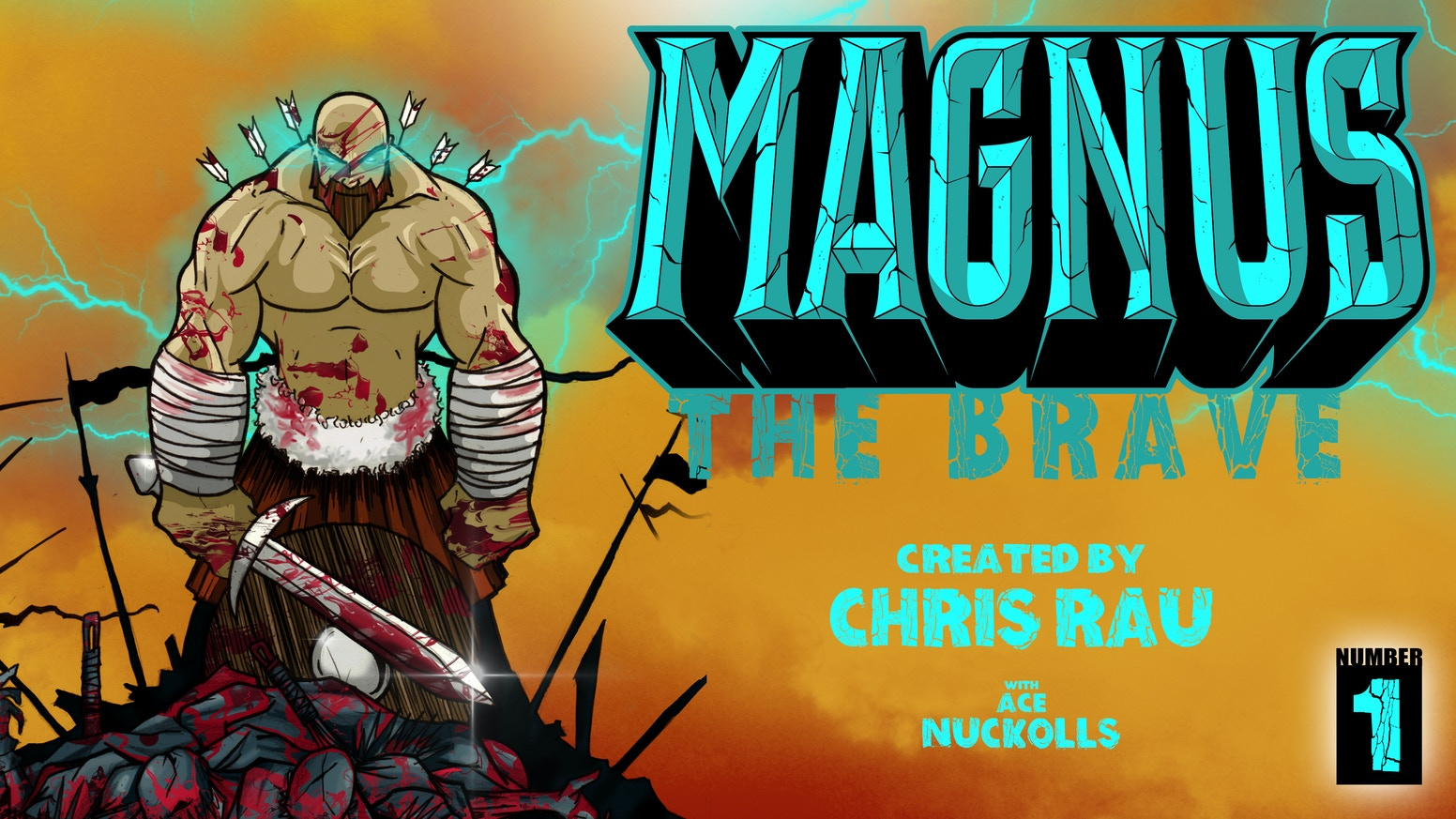 Magnus The Brave, the debut comic book from artist/creator Chris Rau, tells the story of a super-powered barbarian and his adventures.
