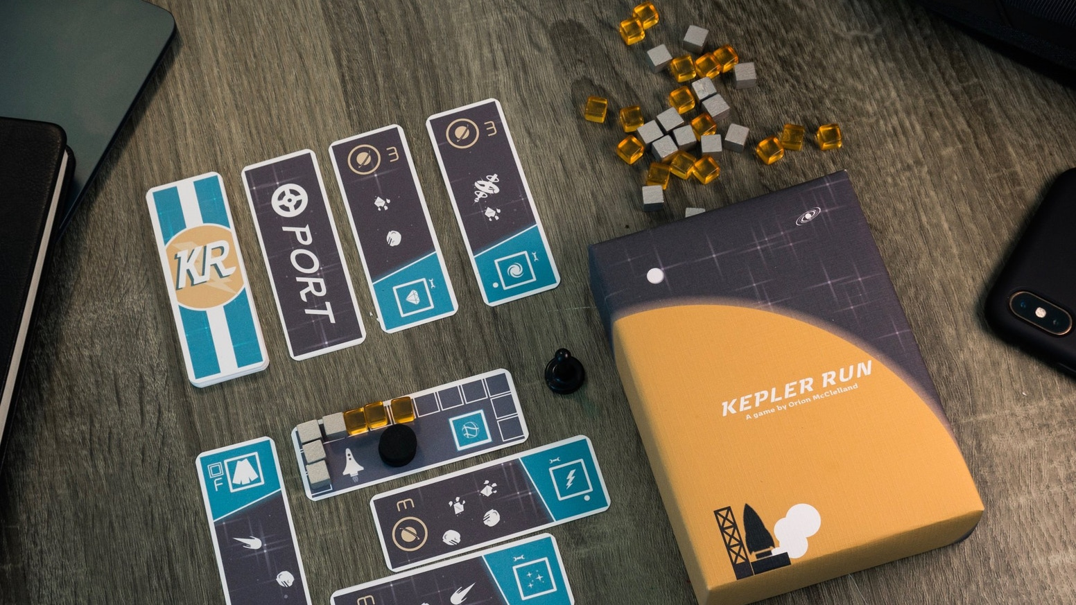 Kepler Run is a small run efficiency and route planning game for 2 - 4 players in a tiny package.