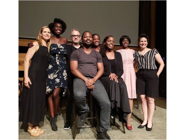 2018 Creator-in-Residence Julia Kwamya and the cast of 'Intimate Apparel'