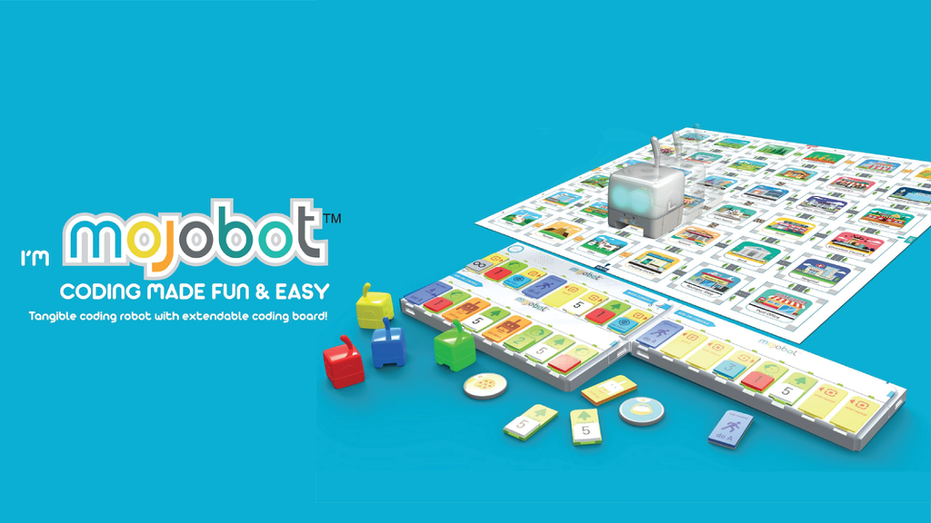 Mojobot - The world's first coding robot and board game.
