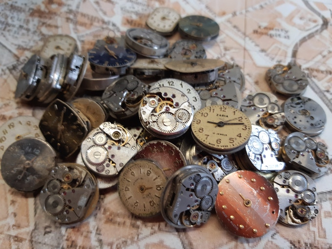The component watches we strip down to produce the movement cufflinks