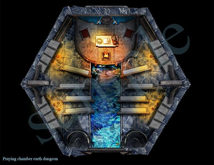 Praying chamber earth dungeon room