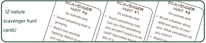 Some of the scavenger hunt cards I've already been playing with myself for months.