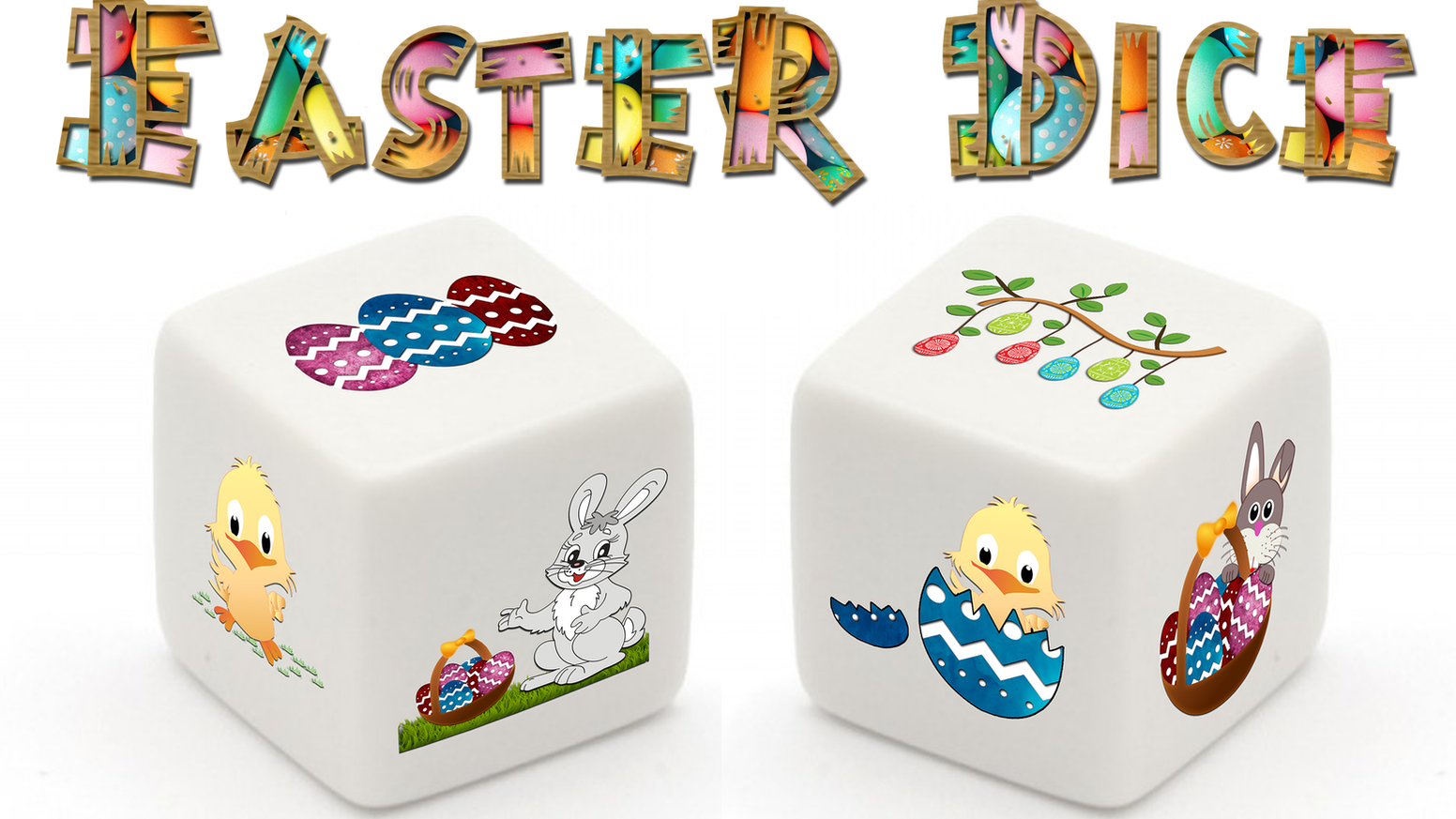 The Easter Dice is a must buy die for Easter this year! It is a die in Easter style and can be used for almost every game!