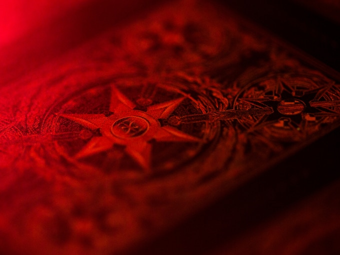Red Metallic Ink - (mock up shown, actual deck will have the metallic ink)