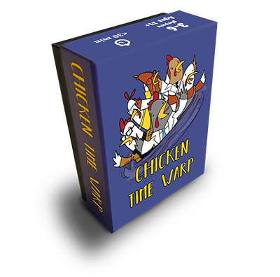 A time travel card game in which chicken scientists fight over who gets to escape an endless time vortex.