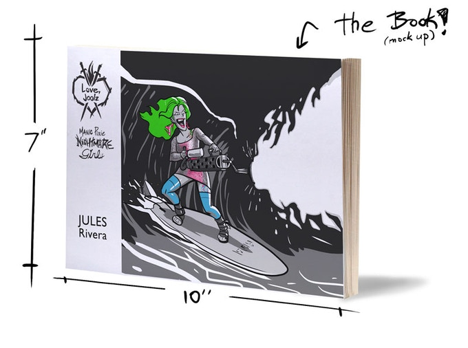 This fucking book is like 124 pages long. I made an actual graphic novel out of screaming and surfing.  What the hell is my life?