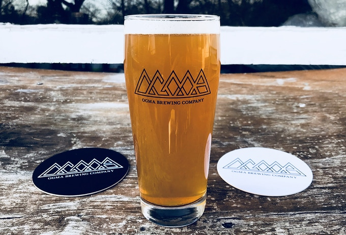 Ogma Pint Glass (Please note: There will be no alcohol awarded through this Kickstarter Project.)