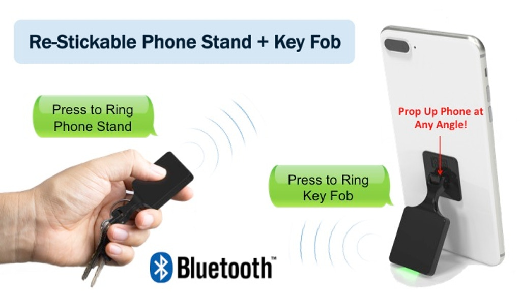 Revolutionary Bluetooth Phone Stand and Key Fob project video thumbnail