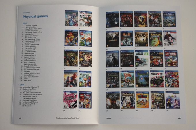 The book will feature library pages of all  Vita games released in 2013 and 2014