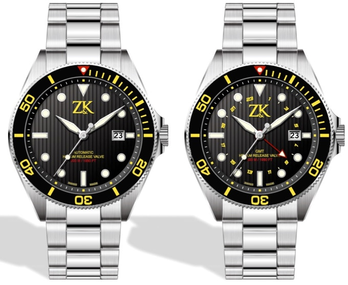 Stainless Steel Black and Yellow