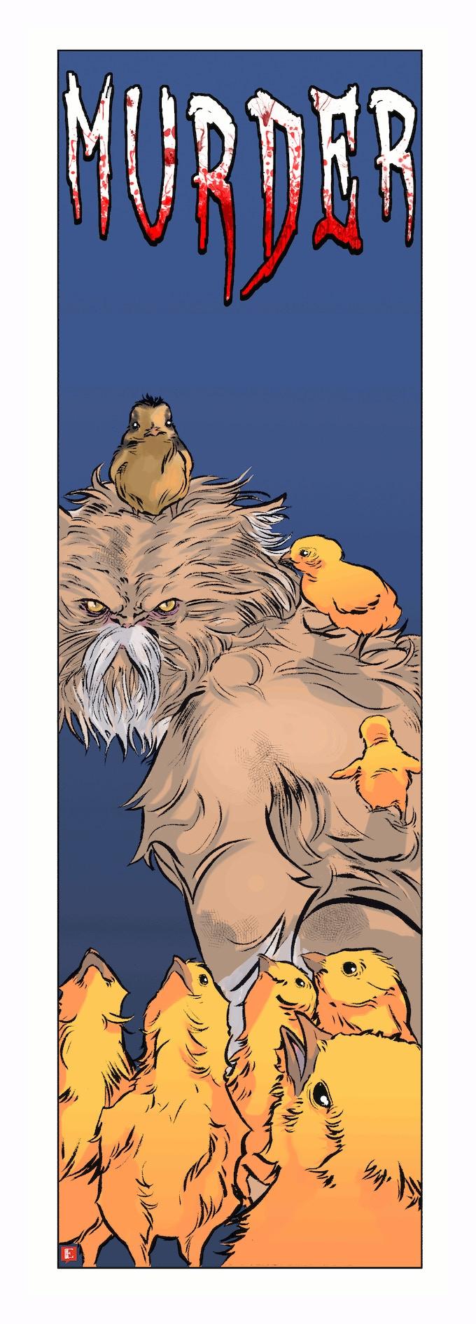 Original bookmark art by Emiliano Correa