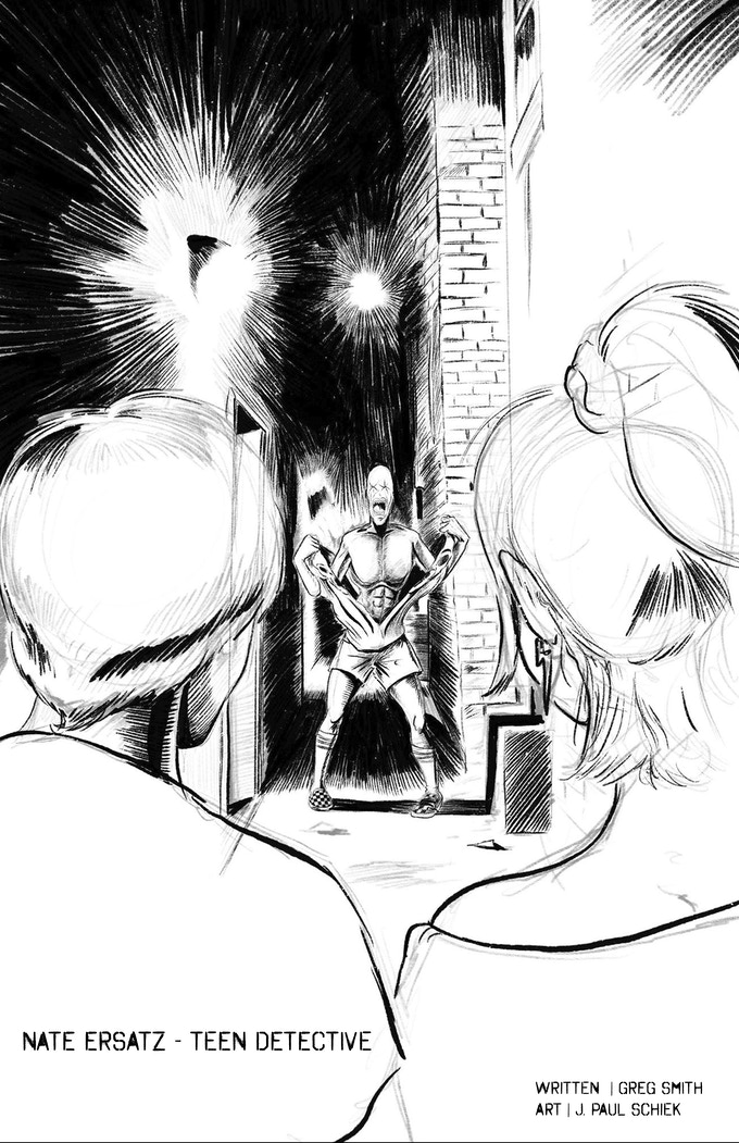 Nate Ersatz and the Skinwalkers - art by J. Paul Shieck