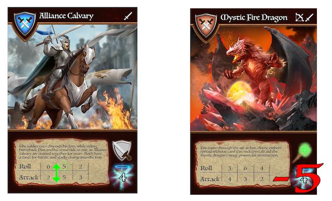 Alliance Calvary attacking Fire Mystic Dragon
