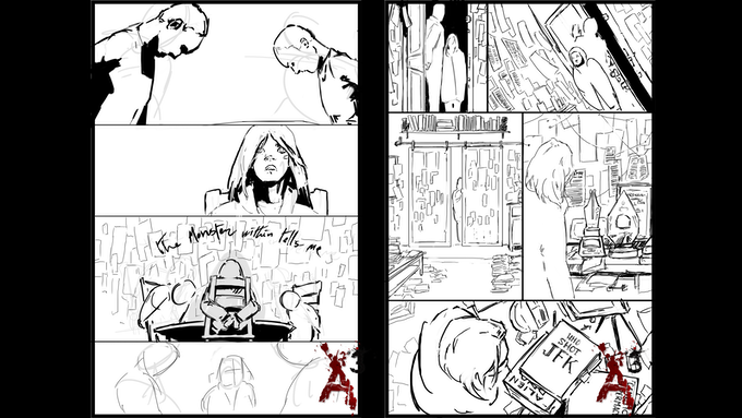 Exclusive Writer and Artist Signed 8x11 Concept Pages
