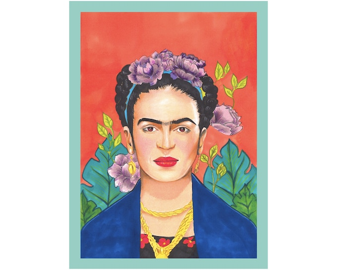 Frida Kahlo Art Print, 8x10 inches in size