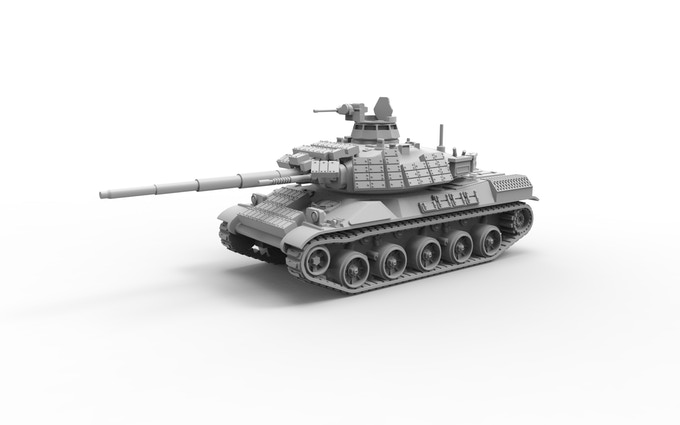 AMX30B2 Brennus with reactiv armour