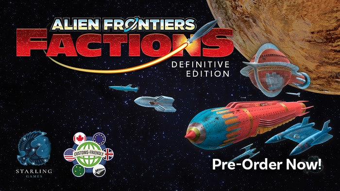 Alien Frontiers Factions: Definitive Edition collects every faction and every agenda card–now all in one box!