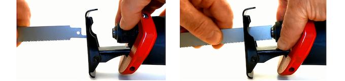 Quick tool-free blade-changing