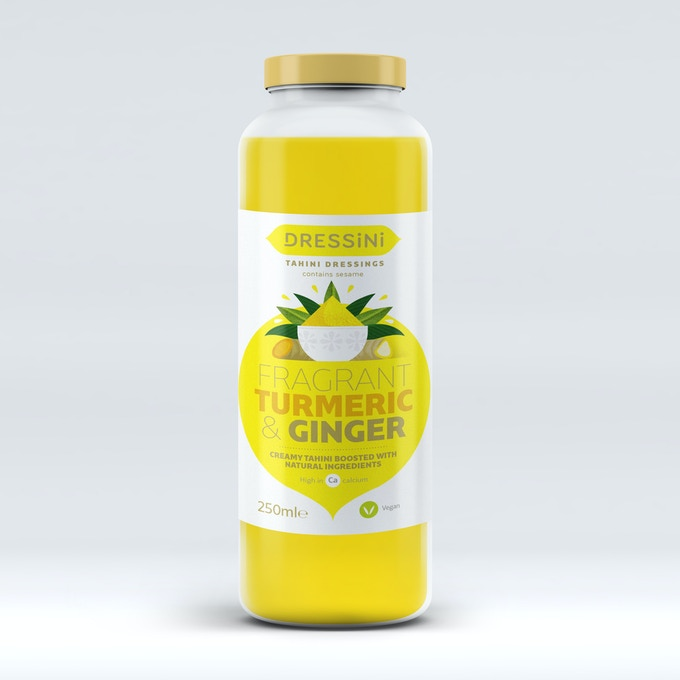 Enjoy our fragrant turmeric and ginger tahini dressing - turmeric and ginger are an amazing match and in combination with the tahini they take taste to a new level. Bring sunshine to your dishes with this beautiful dressing.
