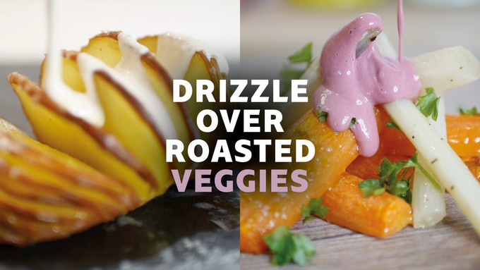 Drizzle over roasted vegetables. Perfect for those homely winter meals or for when it's BBQ season!