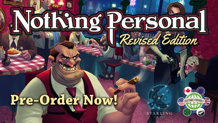 Introducing a new Revised Edition of Nothing Personal! New features include Location cards, new gangsters, and combined expansions!