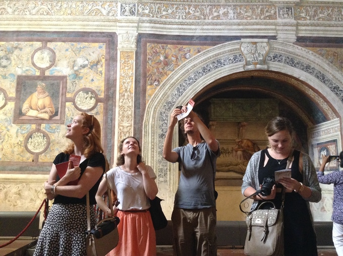 ARCA students on a field trip in Orvieto, Umbria