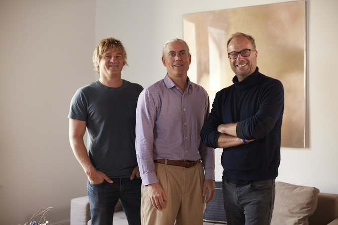 From left to right: Jens-Peter Jungclaussen - Head of Product, Jim Morris - CTO, Richard Gray - CEO