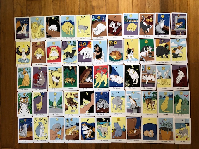The White Cat Oracle is a deck of 55 cards